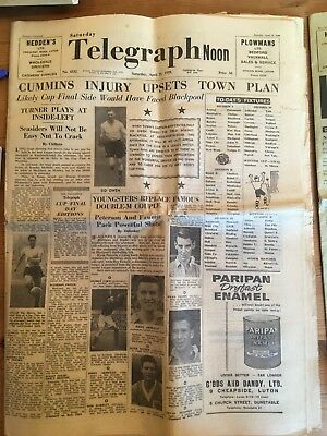 Luton Town 1959 Newspapers, Hatters, Fa Cup