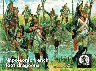 Waterloo 1815 - 041 - Napoleonic French Foot Dragoons - 1:72