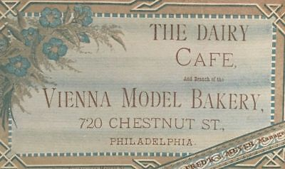 Vintage Victorian Era Trade Business Card The Dairy Cafe1800's Earlry 1900's