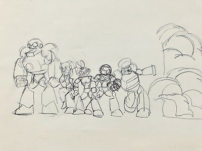 Mega Man Anime  Animation Production Cel Sketch