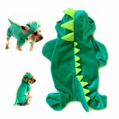 Novelty Dinosaur Dog Clothes Costume Halloween Fancy Dress -  FOR SMALL DOGS