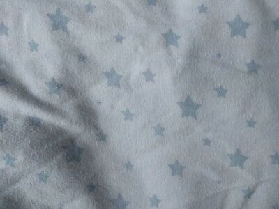 Baby Fitted Cot Sheet X 2 Blue Stars Soft 100% cotton