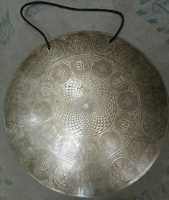 Tibet Zimbel Gong( hand made and etched cymbal)