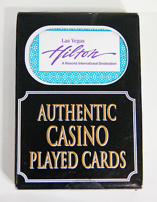 1 Deck Authentic Played Cards from The Hilton Casino Las Vegas, Nevada
