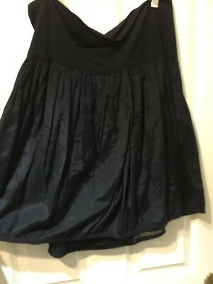 Maternity Black Skirt Red Herring with multicoloured embroidery Size 12