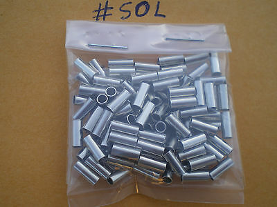 TEST #30L .069 I.D. 100 BLACK WIRE LEADER CRIMP SLEEVES GOOD FOR 20 TO 60 LBS