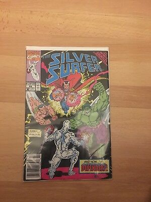 THE SILVER SURFER # 58 - Marvel 1991 Thanos Infinity Gauntlet Crossover