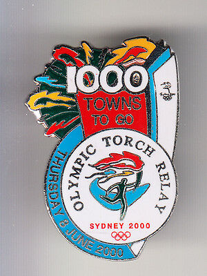 Rare Big Pins Pin's .. Olympique Olympic Sydney 2000 Torche Relay 1000 ~14