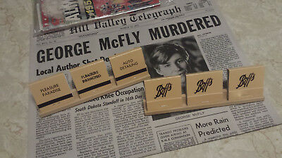 Back to the Future Part II - Prop Replica - Set of 3 Biff's Matchbooks
