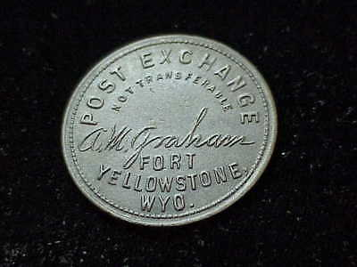 Fort Yellowstone, WY Post Exchange Wyoming Indian Wars, large 50c military token