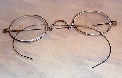 Vintage Wire Rim Spectacles Glasses Oval Lenses, Delicate Wire Frames