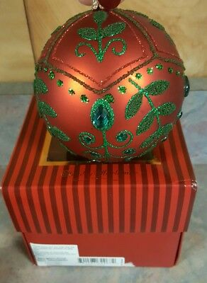 Waterford Holiday Heirlooms Red Mistletoe Ball Ornament