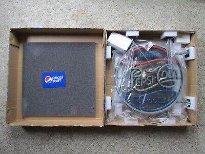 "Official Drink Pepsi Cola LED Neon Style Light Zeon Made USA 19"" New in Box Soda"