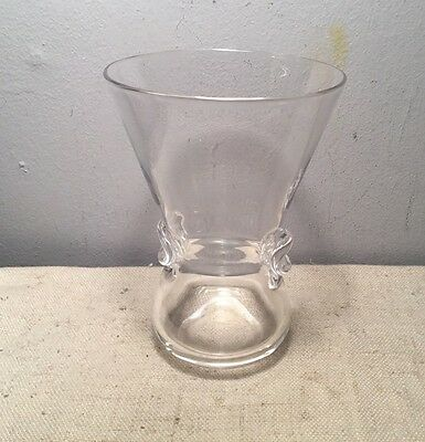 Vintage Steuben Crystal Glass Flower Bouquet Vase With Flared Rim