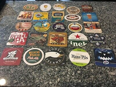 Lot Of 25 Different Beer Coasters