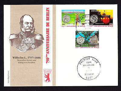 Togo stamps on 1987 First Day Cover FDC 750 Jahre Berlin German Wilhelm I Kaiser