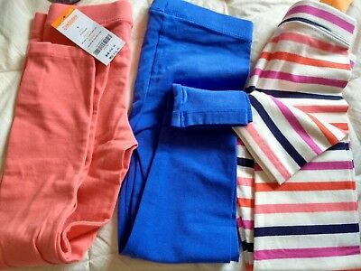 NWT 3 Pc Lot Gymboree Girls' Striped Leggings and solid Size 6
