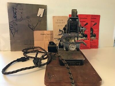 Kingsley Hot Foil Stamping Machine Huge Lot of Type, Foil and Accessories