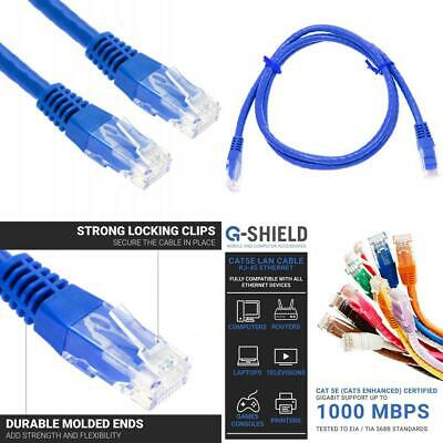 G-Shield 1m Cat5e Ethernet LAN Kabel 1000Mbps 100MHz RJ45 Patchkabel - 1...