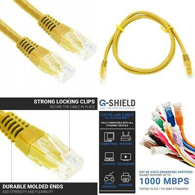 G-Shield 1,5m Cat5e Ethernet LAN Kabel 1000Mbps 100MHz RJ45 Patchkabel - 1,5...