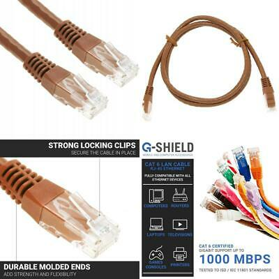 G-Shield 1,5m Cat6 Ethernet LAN Kabel 1 Gigabit 250MHz RJ45 Patchkabel - 1,5...