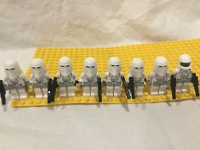 LEGO Star Wars Lot Set of 8 Imperial Snow Trooper Army minifigs