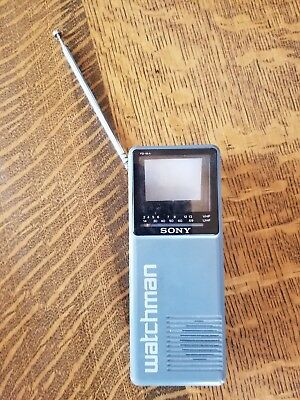 SONY Watchman - Vintage Original Black & White Portable TV - FD10A - TESTED