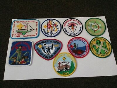 """Vintage and 'Rare"""" Boy Scout And Cub Scout Patches Lot """"9""""Total"""