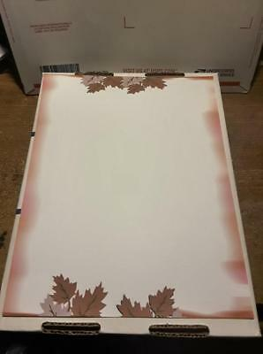 25 Sheets Computer Stationary   Fall Leaves  8-1/2 x 11