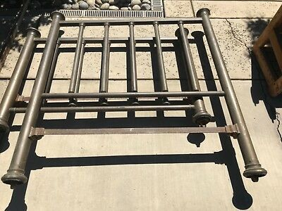 PRICED TO SELL ANTIQUE BRASS BED  FULL SIZE Headboard Footboard & Frame