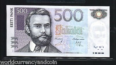 Estonia 500 Krooni P89B 2007 Euro Barn Swallow Unc Currency Money Bill Banknote