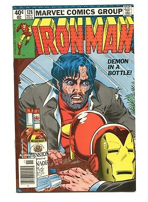 1979 Marvel Invincible Iron Man #128 Alcoholism Issue Near Mint- 9.2 D4