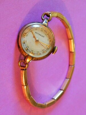 Vintage Wittnauer Ladies  Wrist Watch Gold Tone Finish, Filled Collectible Rare