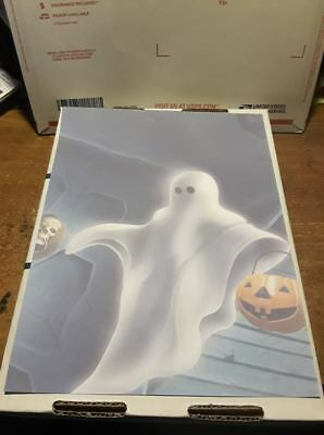 25 Sheets Computer Stationary   Halloween Ghost  8-1/2 x 11