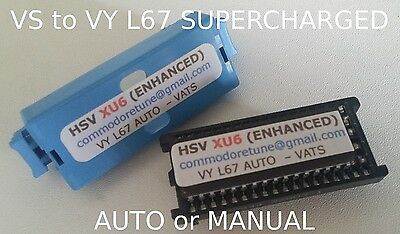 """VS to VY Commodore L67 Supercharged V6 """"HSV XU6 PLUS"""" Memcal VATS or no VATS"""