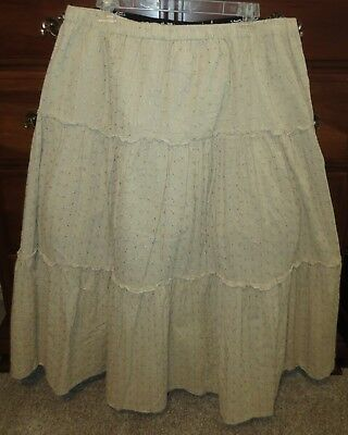 unworn CLASSIC PRAIRIE long full tiered broomstick EMBROIDERY DANCE skirt XL /18