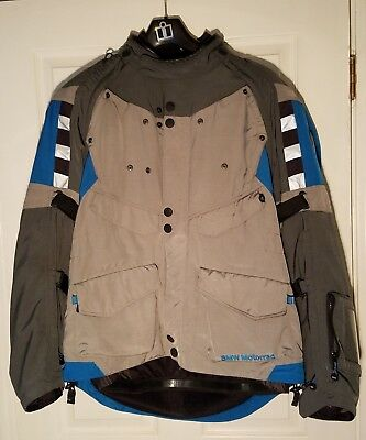 Bmw Men's Rallye 3 Jacket Grey/blue Euro Size 56