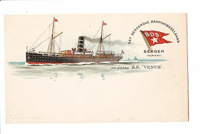 Ship, Boat or Steamer Postcard - VENUS SS - BDS on Flag w/star - F17042