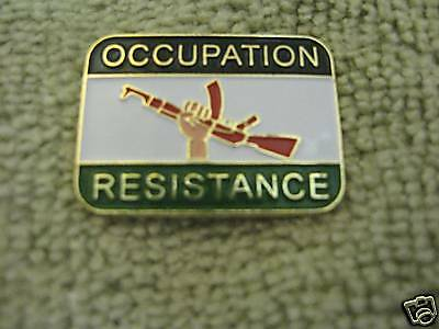 Occupation/Resistance Pin Peace Palestinian Arab Islam
