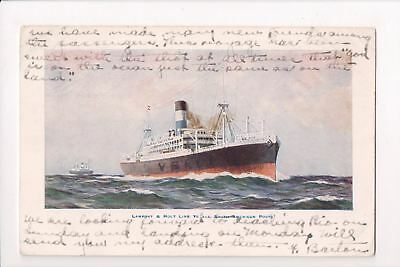 Ship, Boat or Steamer Postcard - VERDI - Lamport and Holt Line - D07264