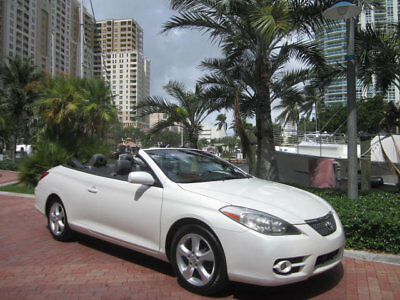Toyota Camry Solara 2dr Convertible V6 Automatic SLE Florida Stunning Blizzard White Pearl 2008 Toyota Solara SLE V6 Convertible