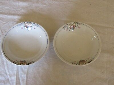 W S George China Derwood two Bowls 146D Both AS IS