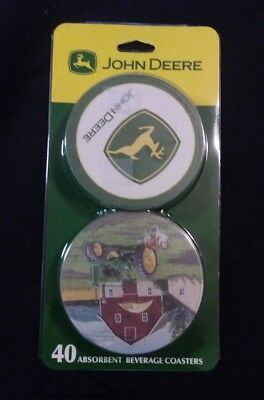 Brand New John Deere 40 Absorbent Beverage Coasters