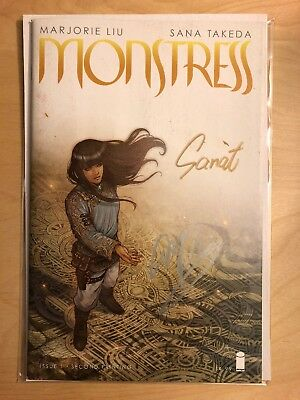 Monstress 1 Rare 2nd Print Low Print Run Image 2015 Signed Marjorie Liu Takeda