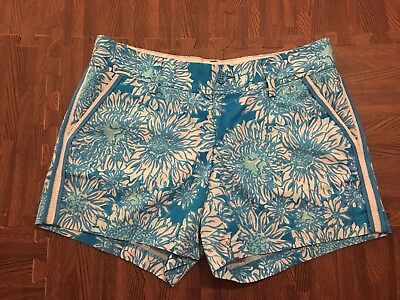 845b4c00f4cc LILLY PULITZER CALLAHAN SHORTS ARIEL BLUE LION IN THE SUN