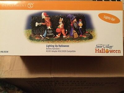 Dept 56® SNOW VILLAGE HALLOWEEN LIGHTING UP HALLOWEEN - BRAND NEW SEALED