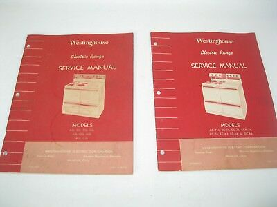 2 = Antique WESTINGHOUSE   Electric Range  Service  Manual