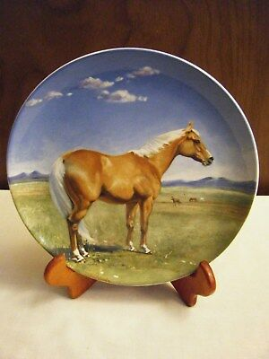 Spode American Quarter Horse Plate Susan Whitcombe 1988  Noble Horse Collection