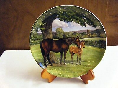 Spode English Thoroughbred Plate Susan Whitcombe 1988  Noble Horse Collection