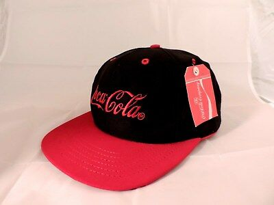 Coca-Cola Adjustable Snapback Hat Black Red Bill & Logo New With Tag Ships Free